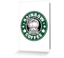 Rainbow Coffee Greeting Card