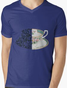 "Alice in Wonderland Quote ""Just a Half Cup, If you Don't Mind"" Mens V-Neck T-Shirt"