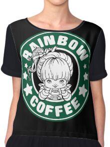 Rainbow Coffee Chiffon Top