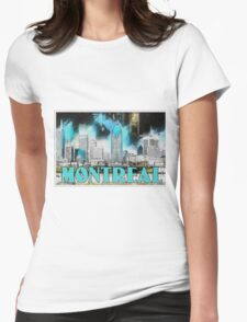 Montreal Lights Womens Fitted T-Shirt