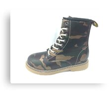 Army boot Canvas Print