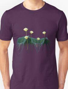 Serene Dreamy Lotus Pads Soft White Water Lilies Unisex T-Shirt