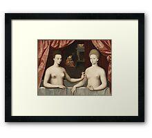Vintage famous art - Anonymous - Gabrielle D Estrées And One Of Her Sisters Framed Print