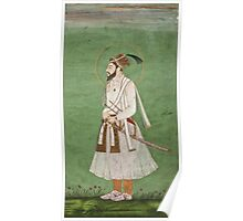 Vintage famous art - Anonymous - Portrait Of A Mughal Prince Possibly A Copy Of A Portrait Of Sultan Shuja (1616-1659) Poster