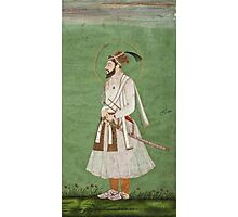 Vintage famous art - Anonymous - Portrait Of A Mughal Prince Possibly A Copy Of A Portrait Of Sultan Shuja (1616-1659) Photographic Print