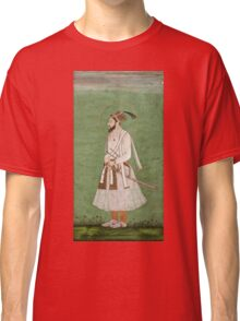 Vintage famous art - Anonymous - Portrait Of A Mughal Prince Possibly A Copy Of A Portrait Of Sultan Shuja (1616-1659) Classic T-Shirt