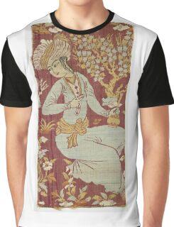 Vintage famous art - Anonymous - Textile Fragment Graphic T-Shirt