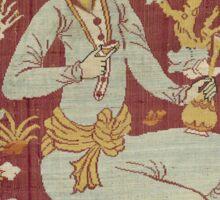 Vintage famous art - Anonymous - Textile Fragment Sticker
