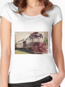 Vintage Railroad 3 Women's Fitted Scoop T-Shirt