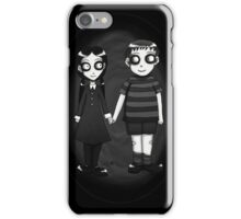 Dark little Wednesday and Pugsley Addams iPhone Case/Skin