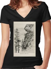 Southern wild flowers and trees together with shrubs vines Alice Lounsberry 1901 146 Caesar's Head Women's Fitted V-Neck T-Shirt