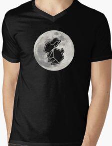 To The Moon : Rabbit Mens V-Neck T-Shirt