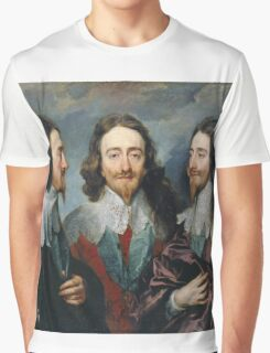 Vintage famous art - Anthony Van Dyck - Charles I Graphic T-Shirt