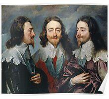 Vintage famous art - Anthony Van Dyck - Charles I Poster