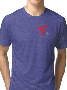 Volleyball Wales Tri-blend T-Shirt