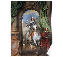 Vintage famous art - Anthony Van Dyck - Charles I With Monsieur De St Antoine Poster