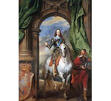 Vintage famous art - Anthony Van Dyck - Charles I With Monsieur De St Antoine Photographic Print