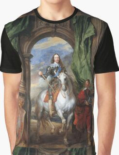 Vintage famous art - Anthony Van Dyck - Charles I With Monsieur De St Antoine Graphic T-Shirt