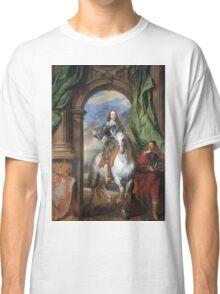 Vintage famous art - Anthony Van Dyck - Charles I With Monsieur De St Antoine Classic T-Shirt