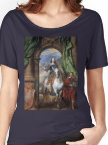 Vintage famous art - Anthony Van Dyck - Charles I With Monsieur De St Antoine Women's Relaxed Fit T-Shirt