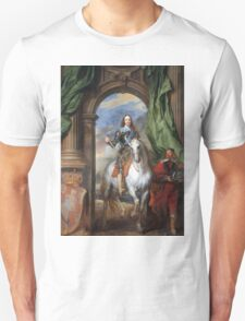 Vintage famous art - Anthony Van Dyck - Charles I With Monsieur De St Antoine Unisex T-Shirt