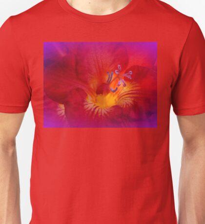 Red Freesia (Iridaceae) Unisex T-Shirt