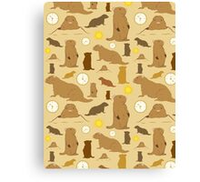 Groundhogs Canvas Print