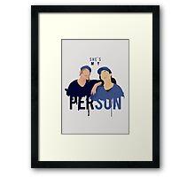 My Person - Grey's Anatomy Framed Print