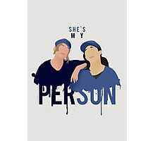 My Person - Grey's Anatomy Photographic Print