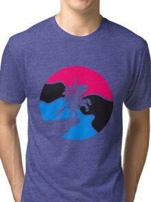 colorful mondnacht sun cliff jumping unicorn pink girls sweet cute little pony horse riding gallop jump Tri-blend T-Shirt