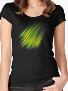 Colorful brush strokes Women's Fitted Scoop T-Shirt