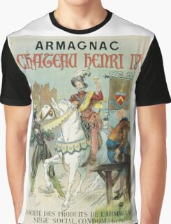Vintage famous art - Poster - Armagnac Chateau Henry Iv  Graphic T-Shirt