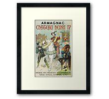 Vintage famous art - Poster - Armagnac Chateau Henry Iv  Framed Print