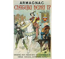 Vintage famous art - Poster - Armagnac Chateau Henry Iv  Photographic Print