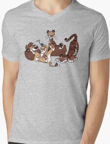Big Cats Mens V-Neck T-Shirt