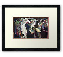 Vintage famous art - Arthur Bowen Davies - Dances Framed Print