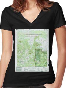 USGS TOPO Map Alabama AL Newburg 304677 2000 24000 Women's Fitted V-Neck T-Shirt