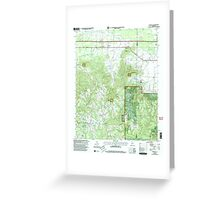 USGS TOPO Map Alabama AL Newburg 304677 2000 24000 Greeting Card