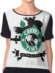Starbucks Adventure Time Women's Chiffon Top