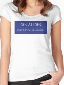 "Ser. Alliser Thorne ""Make The Wall Great Again"" Women's Fitted Scoop T-Shirt"
