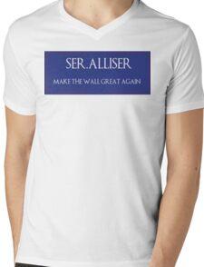 """Ser. Alliser Thorne """"Make The Wall Great Again"""" Mens V-Neck T-Shirt"""