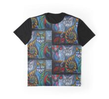 Neon Cats in Acrylics Graphic T-Shirt