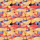 Seamless pattern of colorful fish by Tanor