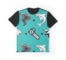 Sharks, Tornados, Axes, Table Saws, Diamond Rings, and Taxis Graphic T-Shirt