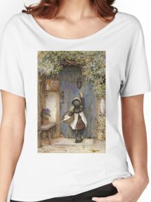 Vintage famous art - Arthur Hopkins - The Visitor  Women's Relaxed Fit T-Shirt