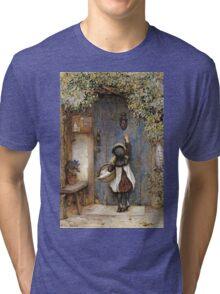 Vintage famous art - Arthur Hopkins - The Visitor  Tri-blend T-Shirt