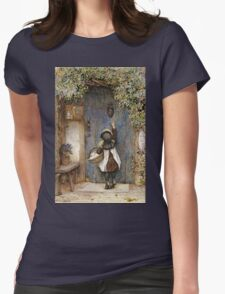Vintage famous art - Arthur Hopkins - The Visitor  Womens Fitted T-Shirt
