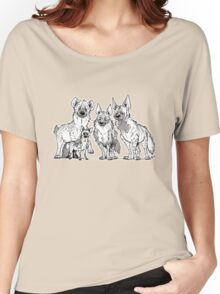 Hyenas - Two-toned Women's Relaxed Fit T-Shirt