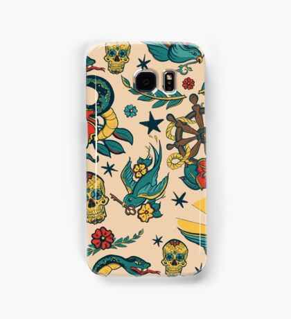 Punk Tattoo Pattern Design and Illustration Samsung Galaxy Case/Skin