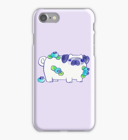 Blueberry Pug Watercolor iPhone Case/Skin